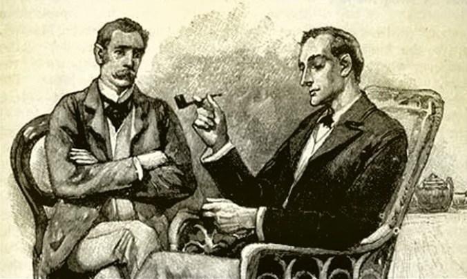 Watson and Holmes at home