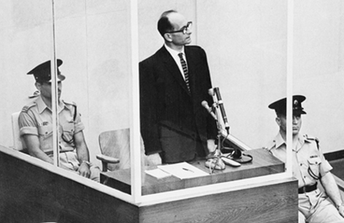 700 Aldolf Eichmann - Nazi War Criminal on trial in Nuremberg after capture