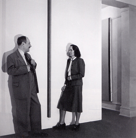 Barnett Newman and Betty Parsons with The Wild photo by Hans.fw