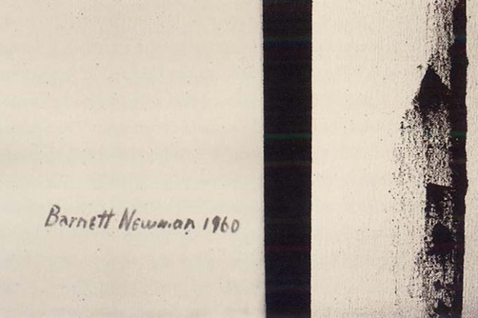 Newman's signature on Third Station, 1960