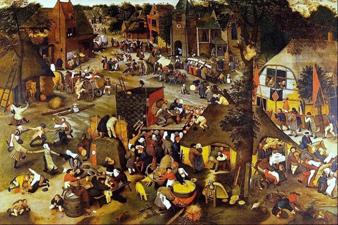 A Village Fair by Pieter Brueghel the younger c.1616 - 1635.fw