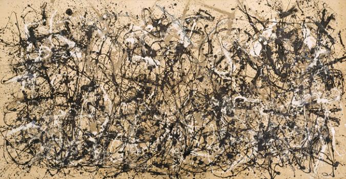 Autumn Rhythm, Number 30, 1950 by Jackson Pollock, 1950.fw