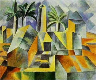 Factory, Horta de Ebbo', Pablo Picasso, 1909.fw