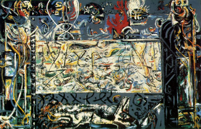 Guardians of the Secret by Jackson Pollock, 1943.fw