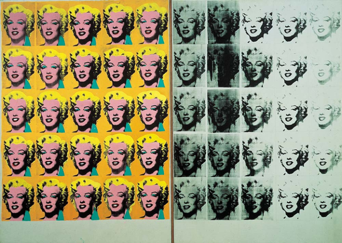 Marilyn Diptych by Andy Warhol, 1962.fw
