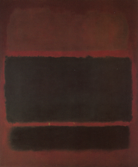 No. 20 (Deep Red and Black) (Brown, Black on Maroon) 1957 by Mark Rothko, 1957.fw