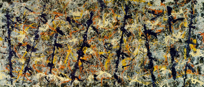Number 11, 1952 (Blue Poles) by Jackson Pollock, 1952.fw
