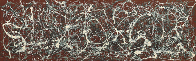 Number 13A, 1948- Arabesque by Jackson Pollock, 1948.fw