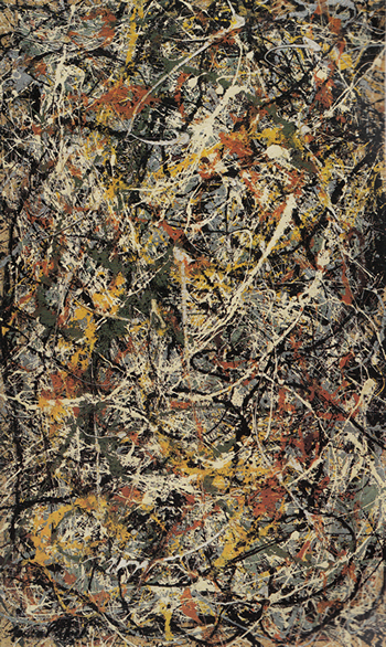 Number 3, 1949- Tiger by Jackson Pollock, 1949.fw
