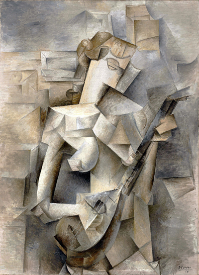 Pablo Picasso 1910 Girl with a Mandolin
