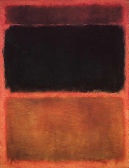 Tan and Black on Red 1957 by Mark Rothko, 1957.fw