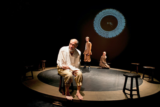 "the Classic Stage Company's staging of Bertolt Brecht's ""Galileo."" Credit Sara Krulwich - The New York Times.fw"