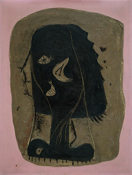 The Rape of Persephone by Adolph Gottlieb, 1943.fw