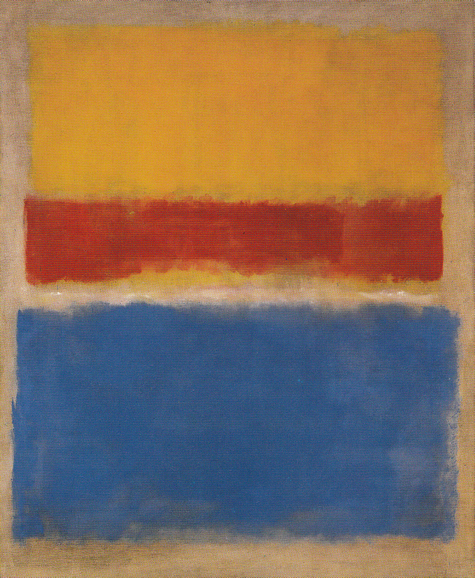 Untitled (Yellow, Red and Blue) 1953 by Mark Rothko, 1953.fw