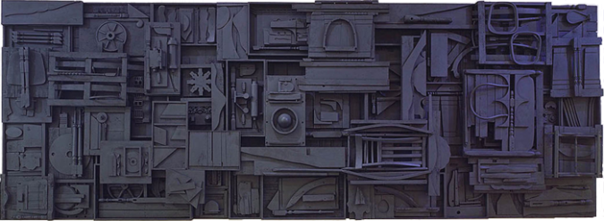 Sky Cathedral by Louise Nevelson, 1982.fw