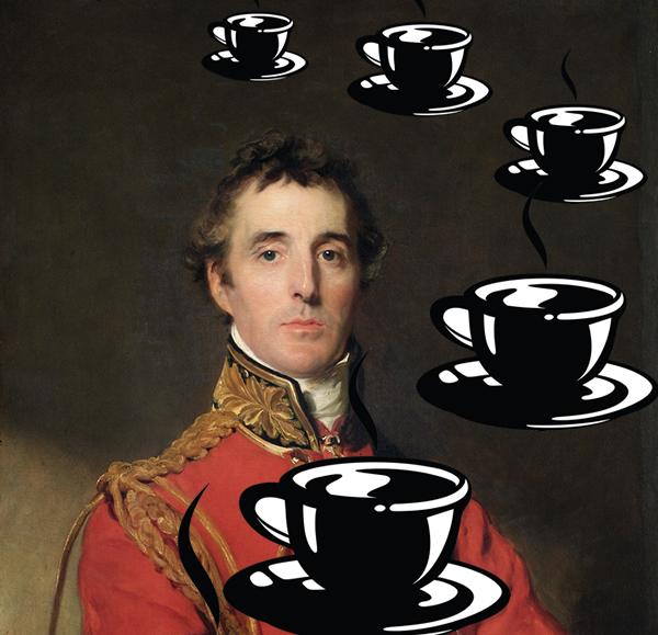 Wellington and coffee.fw